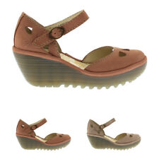 Ladies Fly London Yuna Cupido Buckle Strappy Wedge Holiday Sandals All Sizes