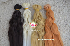 Synthetic Curly Doll Hair Weft for 1/3 1/4 Blythe BJD handmade doll Custom Wigs