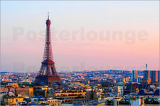 Poster Eiffel Tower in the evening, Paris