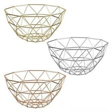 Stylish Geometric Design Wire Fruit/Vegetable Basket Display Kitchen Storage New