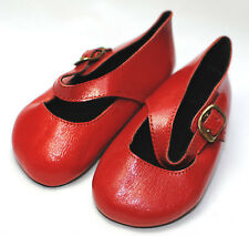 Boneka Dollshoes red Mary Janes with buckle 100 N / rote Mary Janes mit Schnalle