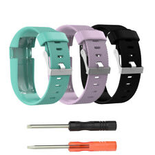 UK Large Replacement Silicone Watch Band Strap For Fitbit Charge HR With Tools