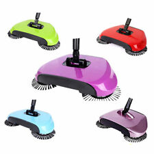 SPIN SWEEPER BROOM ROTATING HARD FLOOR CLEANING MOP AUTOMATIC BRUSH CLEANER 360