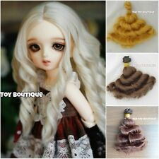 Wefted curly doll hair wig weft for 1/3 1/4 BJD SD Blythe doll making 15x100cm