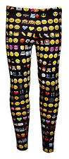 Infantil/Chicas Lindas emoties EMOTICONOS leggings estampados Talla 5 -10 AÑOS