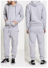 New Mens Full Tracksuit Fleece Tracksuit Full Zip Hoodie And Bottoms Grey