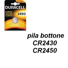 DURACELL  pila bottone CR2450/ CR2430 BATTERIA A LITIO 3V