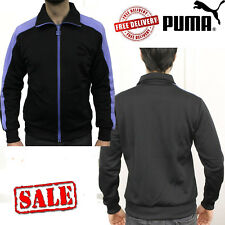 PUMA Mens Eagle Point Sports Slim Track Jackets Sweatshirt Jumpers Black Tops UK