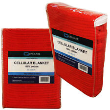 Qualicare Large 2m x 1.5m Cellular First Aid Medical Red Casualty Cotton Blanket