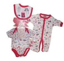 BABY GIRLS 5PC NET BAG GIFT SET HOME SWEET HOME NB-6 MONTHS