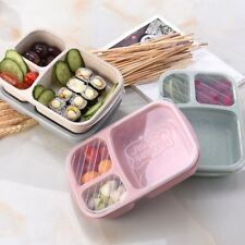Grid Lunch Bento Box With Lid Biodegradable Eco-friendly Storage Container Boxes
