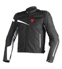Dainese - Giacca in pelle Veloster Tex , nera, bianca Uomo