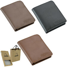 ROAR Mans Leather Wallet Slim Bifold Flip ID/Credit Card Holder Coin Pocket Gift