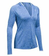 Under Armour Tech Long Sleeve Hooded Henley - Womens - Lapis