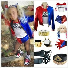 Halloween Costume Lot Suicide Squad Harley Quinn Jacket Accessories Set Cosplay