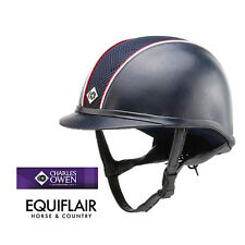 Charles Owen Leather Look Ayr8 Riding Helmet Round Fit - FREE HAT BAG