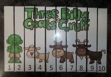 Three Billy Goats Gruff themed 1-10 Number Sequence Puzzle and Game Board.  Lami