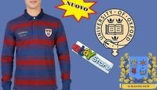 Maglia Uomo Polo Oxford University Rugby manica lunga Queens Queens College UK