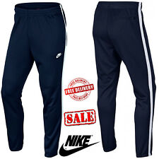 Nike Men's Skinny Tribute Track Bottoms Sports Sweat Pants Navy Trousers UK Size