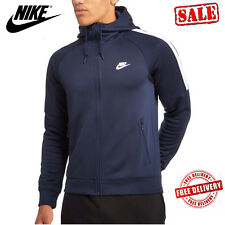 Nike Mens Tribute Sports Hoodie Navy Hooded Track Tops Sweatshirts Hoody Navy UK