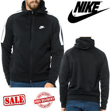 Nike Men's Tribute Sports Hoodie Navy Hooded Track Jackets Tops Sweatshirt Hoody