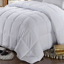 White Goose Feather- Down Comforter 100% Cotton 300 TC All Season Oversize