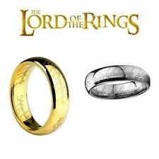 The Lord of the Rings Ring Stainless Steel Hobbit LOTR Frodo Bilbo Gollum