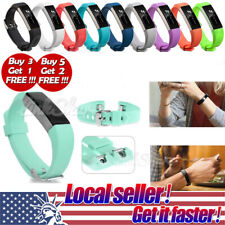 Soft Replacement Silicone Wrist Band Strap Clasp Buckle For Fitbit Alta Alta HR