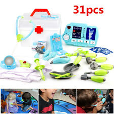 31 PCS Portable Kids Doctor Nurse Medical Role Play Set Case Kit Educational Toy