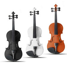 4/4 Full Size Basswood Natural Acoustic Violin Fiddle with Case Rosin Bow