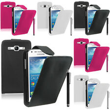 Piel Artificial Funda protectora de móvil con tapa para Samsung Galaxy Core Plus