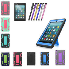 For Amazon Kindle Fire 7 HD 8 8th 2018 Shockproof Rubber Stand Hard Case Cover