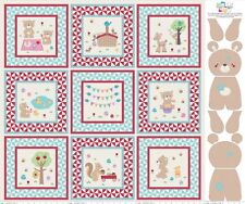 100% Cotton melly and me Teddy Bears Picnic Book and Teddy Panel