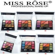 Miss Rose Professional Make UP 10 Color Eye shadow Blusher & Eyebrow with Brush