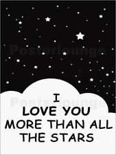 Stampa su tela I Love You More Than All The Stars - Finlay and Noa