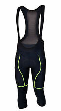 MIMO DRACO cycling trousers 3/4, gentle insulated, COMP HP, black-fluorine Padde