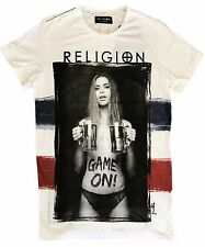 "Religion Clothing MAGLIETTA T-SHIRT UOMO "" Game on France "" Bianco NUOVO"