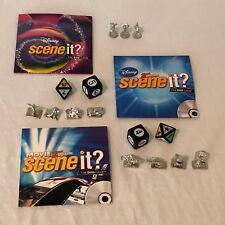 Scene It Board Game REPLACEMENT Parts Pieces Movers Dice CD DVD Cards Disney