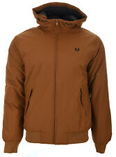 Mens Fred Perry Hooded Insulated Brentham Jacket J3504 Dark Caramel 644