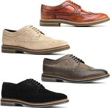 Base London TURNER Mens Hi Shine Leather Smart Office Lace Up Brogue Shoes
