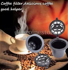 REFILLABLE REUSABLE COFFEE CAPSULES PODS STAINLESS FILTER NESPRESSO DULCE GUSTO