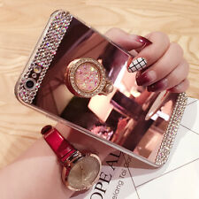 Luxury Diamond Glitter Bling Mirror Phone Case for iPhones With Ring Stand *UK*