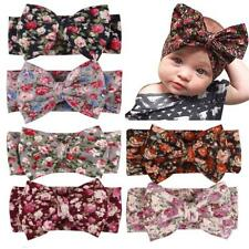 1Pcs Newborn Headband Elastic Baby Print Floral Hair Band Girls Bow-knot N7