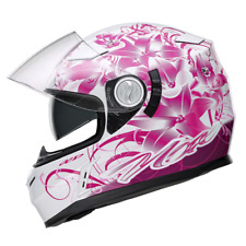 CASQUE INTEGRAL FEMME NOX N915 LADYBUG ROSE CHOIX TAILLE VISIERE SOLAIRE