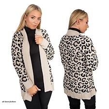 New Ladies Front Open Skull Womens Waterfall Long Sweater Knitted Cardigan Top