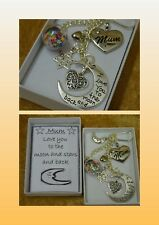 Personalised Love You To The Moon And Stars and Back Charm Gift Boxed Keepsake