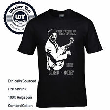 Chuck Berry Tribute T SHIRT FATHER OF ROCK AND ROLL NUOVO PREMIUM ORIGINALE