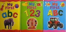 My First ABC and 123 Padded Colourful Picture Educational Early Learning Book