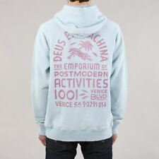 Deus Ex Machina Men's Sunbleached Postmodern Pullover Hoody Sky Blue/Rose Pink