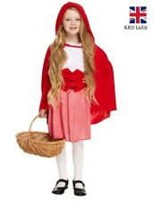 Kids LITTLE RED RIDING HOOD COSTUME Fancy Dress Child Girl Book Week Outfit UK